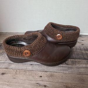 Dansko Professional Nursing Sweater Clogs brown